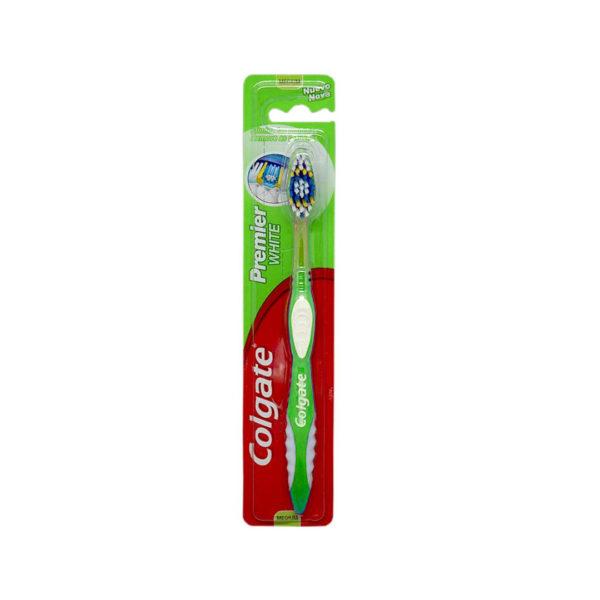 Colgate fogkefe 1 db - Premier White Medium zöld
