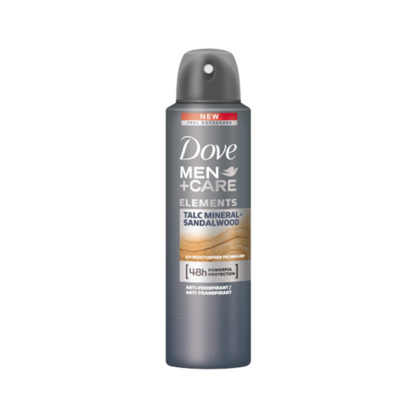 Dove MEN+CARE dezodor spray 150 ml - Talc Mineral and Sandalwood
