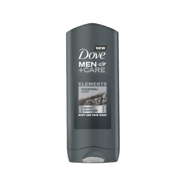 Dove MEN+CARE tusfürdő 400 ml - Elements Charcoal and Clay
