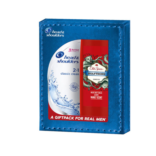 Head & Shoulders and Old Spice ajándékcsomag 2 db-os - Classic and Wolfthorn