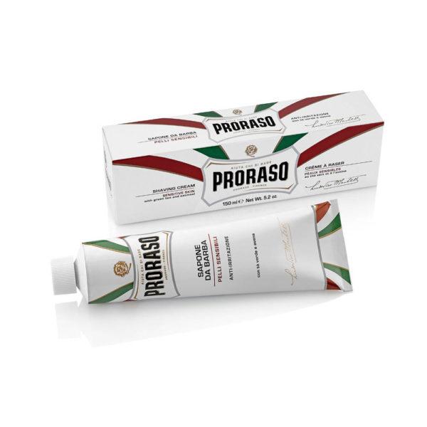 Proraso borotvakrém 150 ml - zöld tea - érzékeny bőrre