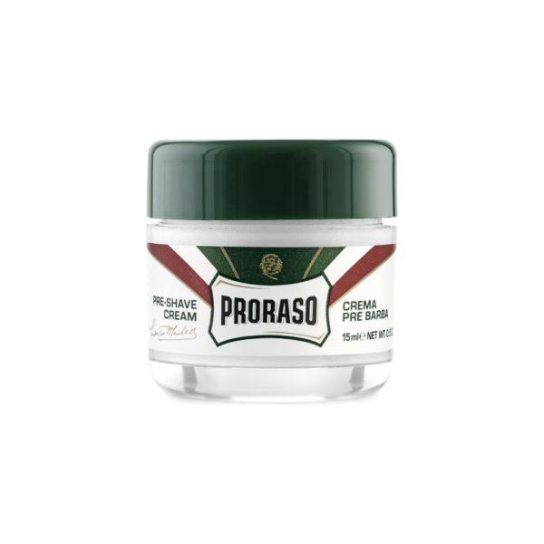 Proraso borotválkozás előtti krém 15 ml - eukaliptusz és mentol (utazó)