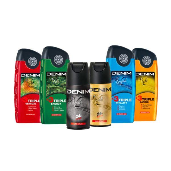 Denim 2+4 dezodor és tusfürdő csomag