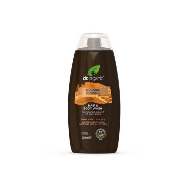 dr.organic Men 2 az 1-ben sampon és tusfürdő bio ginzenggel - 250 ml