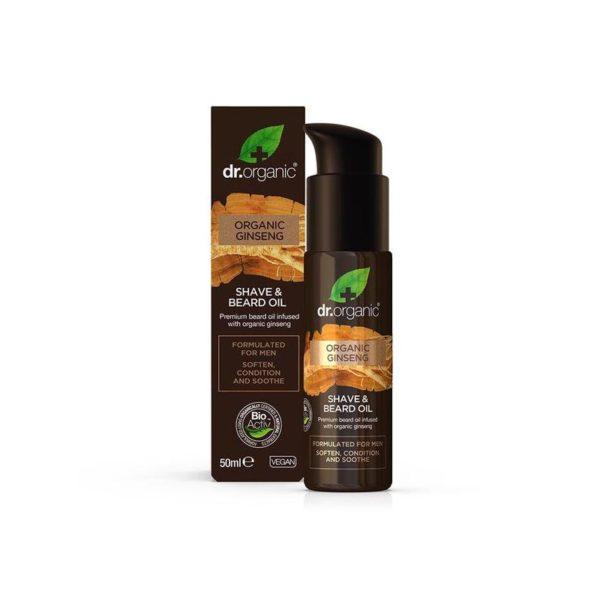 dr.organic Men borotválkozó és szakállápoló olaj bio ginzenggel - 50 ml