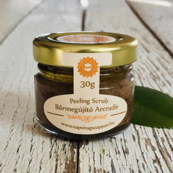 Napvirág arcradír 30 g - kávé-vanília